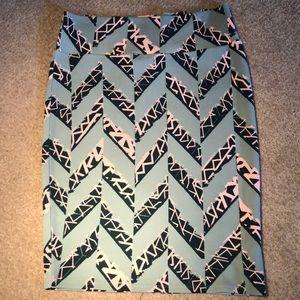 Geometric Cassie LuLaRoe Skirt